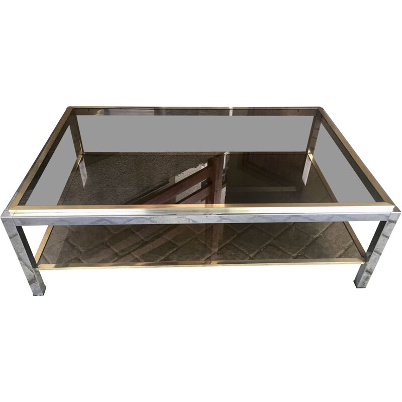 Vintage coffee table Linea Flaminia De Willy Rizzo 1971s
