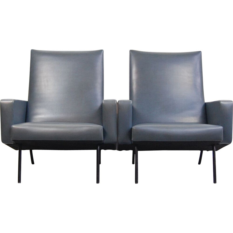 Pair of Suffren vintage armchairs by Pierre Guariche for Meurop 1962
