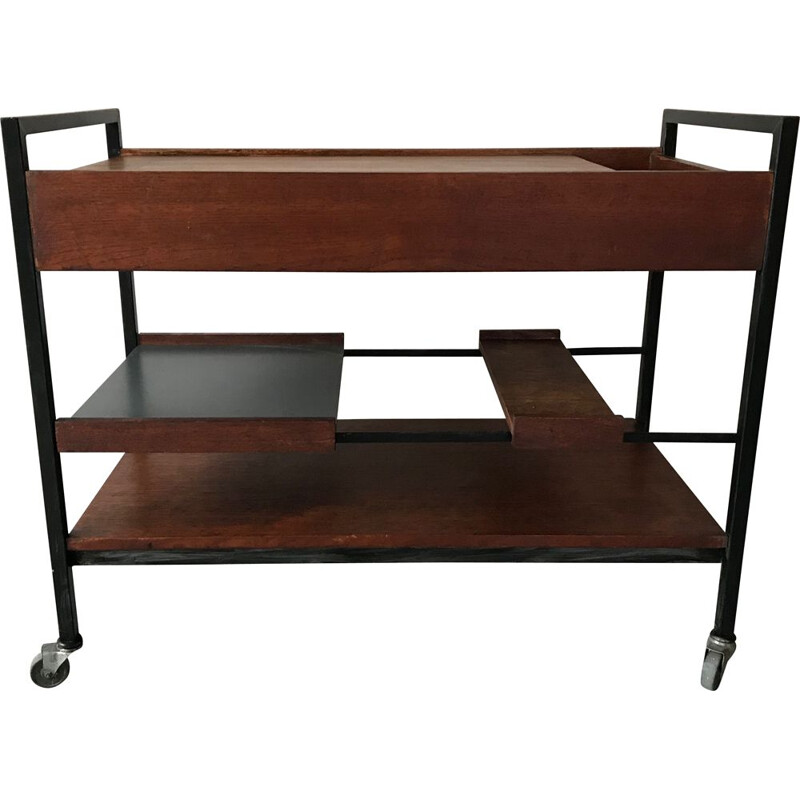Vintage rolling table by Pierre Guariche 1961s