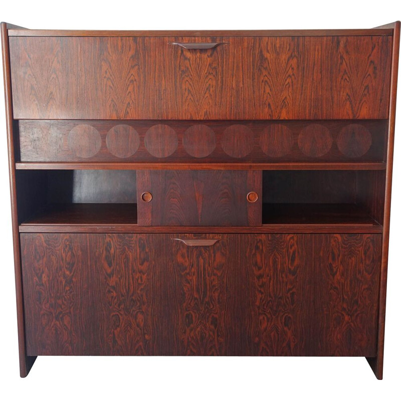 Vintage Rosewood Bar Cabinet by Johannes Andersen for Skaaning & Son 1960s