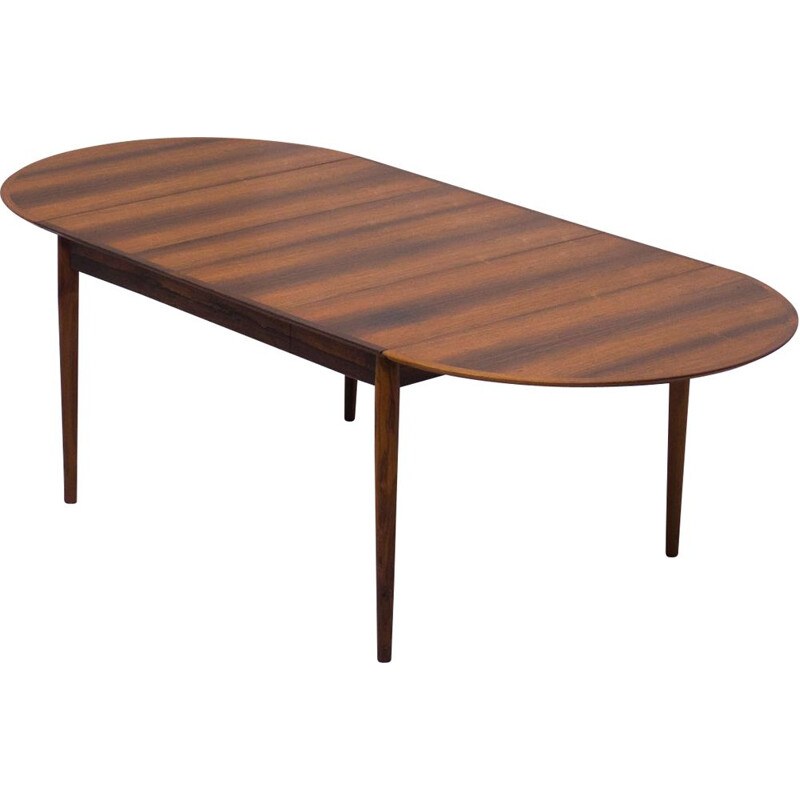 Vintage Sibast Mobler rosewood dining table by Arne Vodder