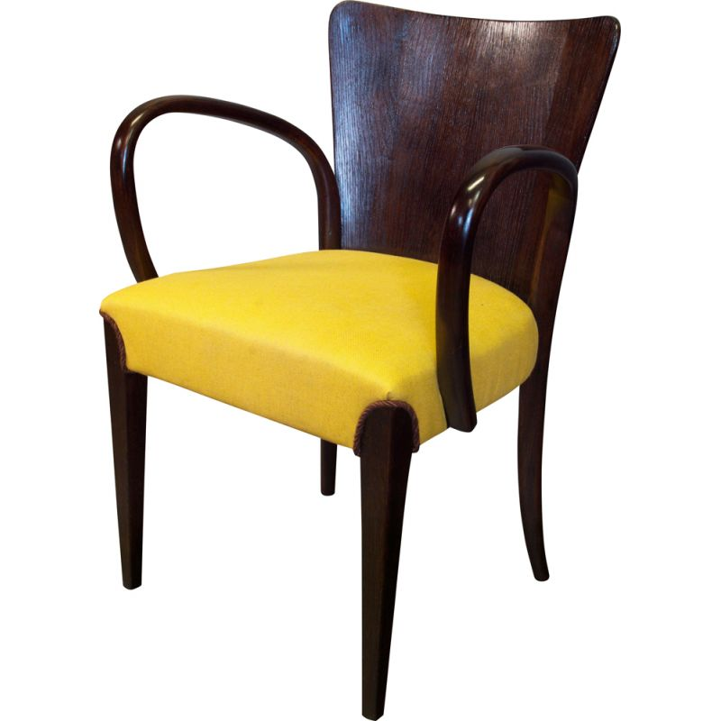 Vintage dining Chair by Jindrich Halabala for UP Brno 1930s