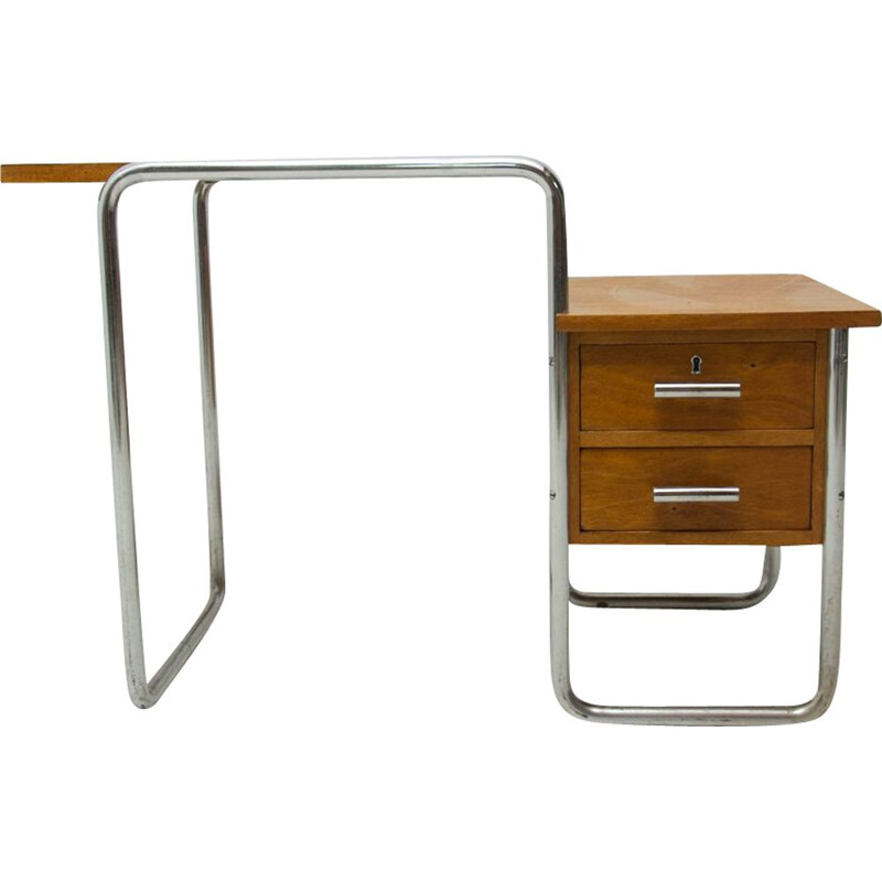 Vintage Children Tubular steel writing desk by Marcel Breuer 1930s