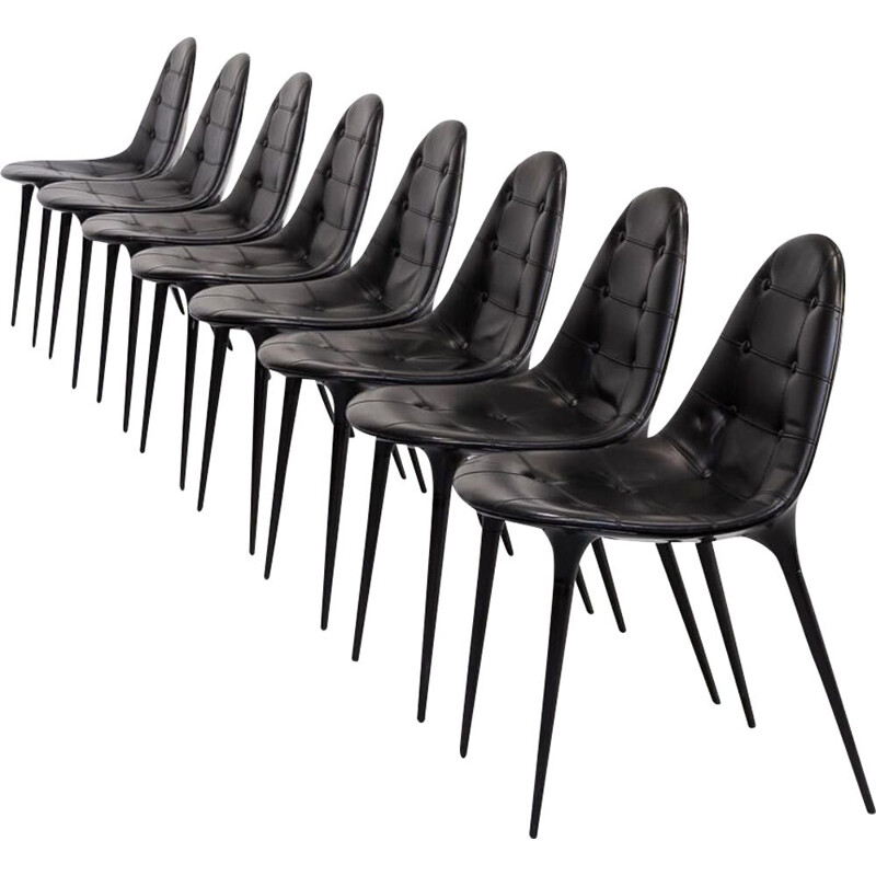 Set of 8 Vintage Philippe Starck dining chair for Cassina 1970s