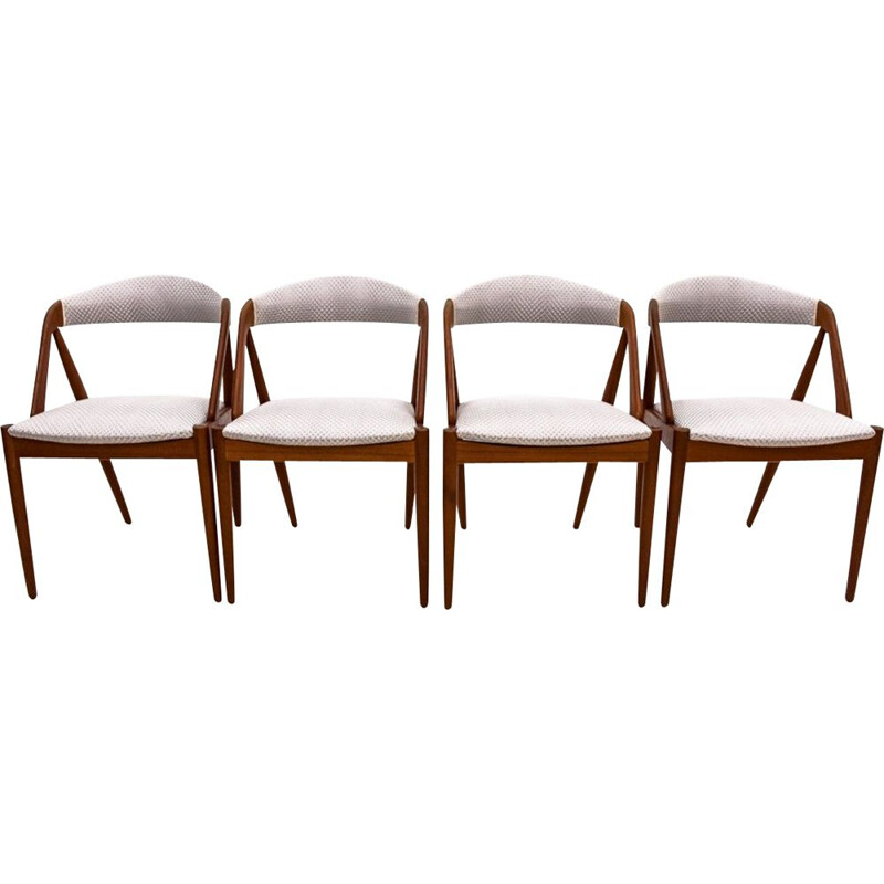 Set of 4 Vintage Chairs by Kai Kristiansen Denmark 1960s