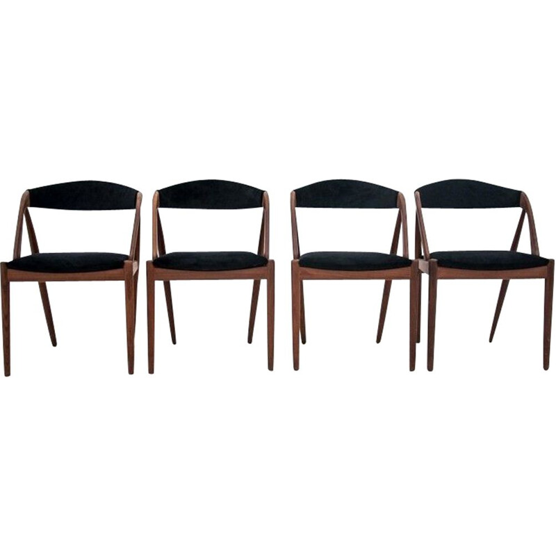 Set of 4 Vintage Dining chairs by Kai Kristiansen Denmark 1960s