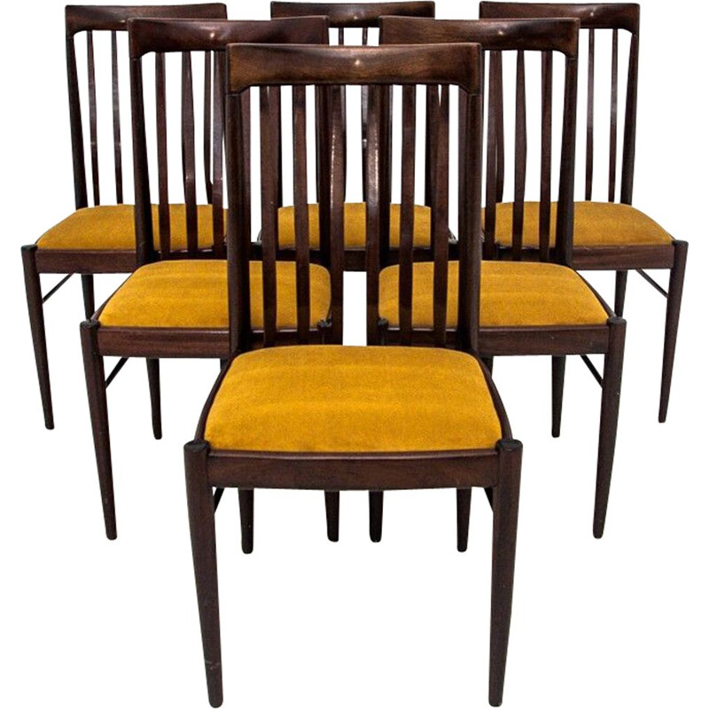 Set of 6 Vintage Dining room chairs by W.H. Klein Denmark 1960s