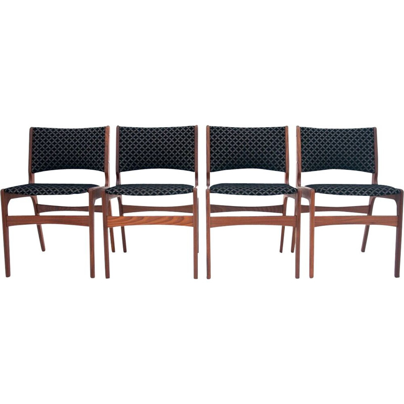 Set of 4 vintage Chairs by Johannes Andersen 1960s