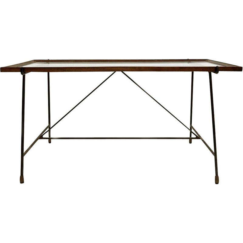 Vintage coffee table by Augusto Bozzi for Saporiti Italy