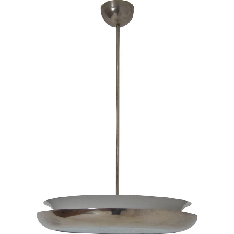 Vintage Pendant UFO by Josef Hurka For Napako Bauhaus and Functionalism 1930s