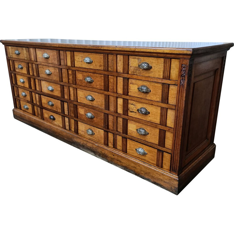 Vintage loom chest of drawers 1930