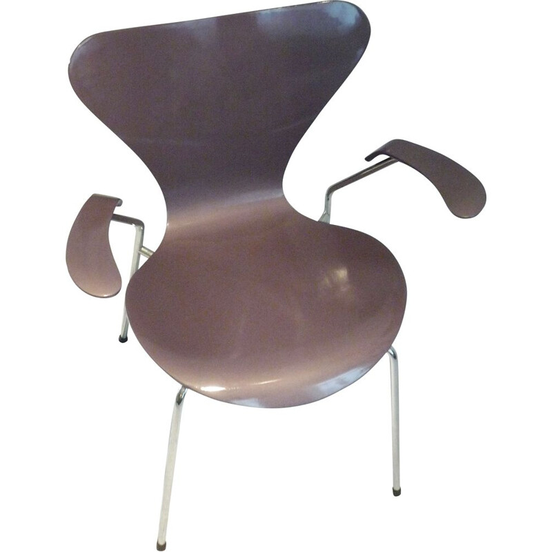 Vintage chair model 3207 Taupe