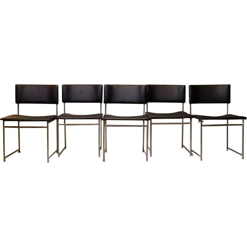Set of 5 vintage SM08 chairs by Cees Braakman for Pastoe, Netherlands 1950