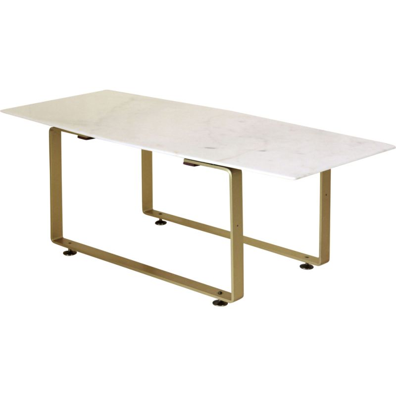 Vintage coffee table in marble and gilded iron structure 1970