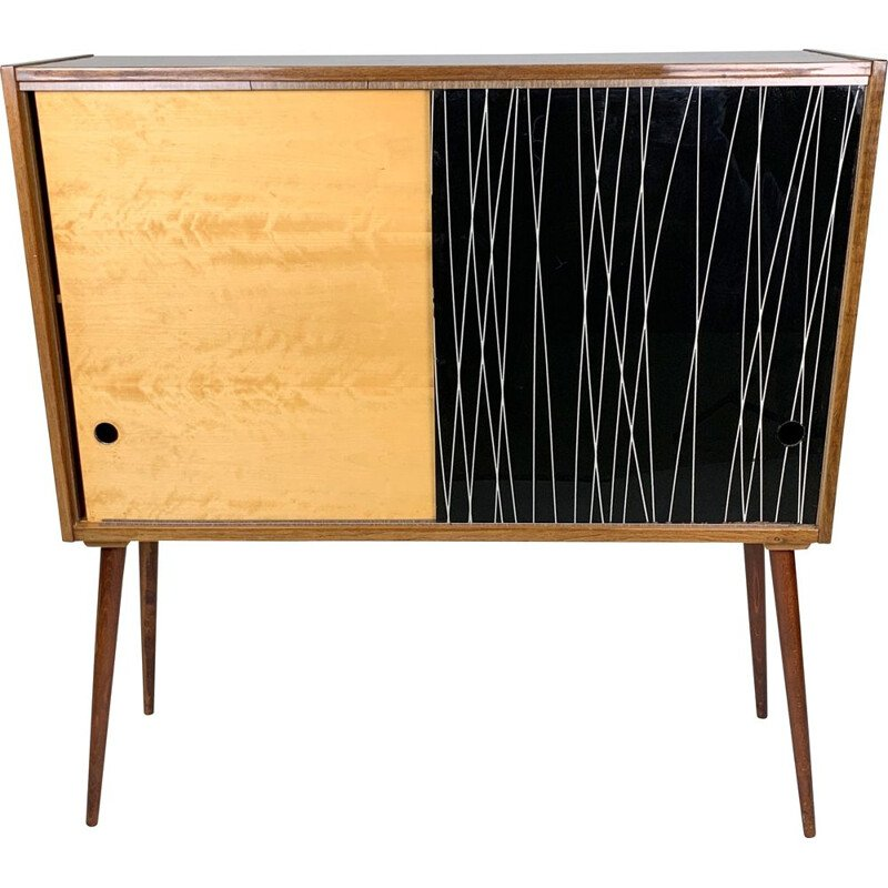 Vintage highboard by B. Landsman & H. Nepozitek for Jitona 1960