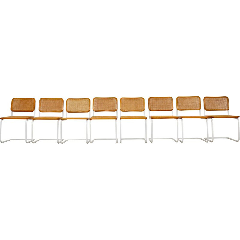 Set of 8 vintage chairs by Marcel Breuer