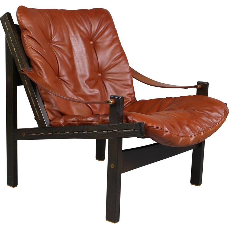 Vintage hunter's lounge chair by Torbjørn Afdal for Bruksbo 1960