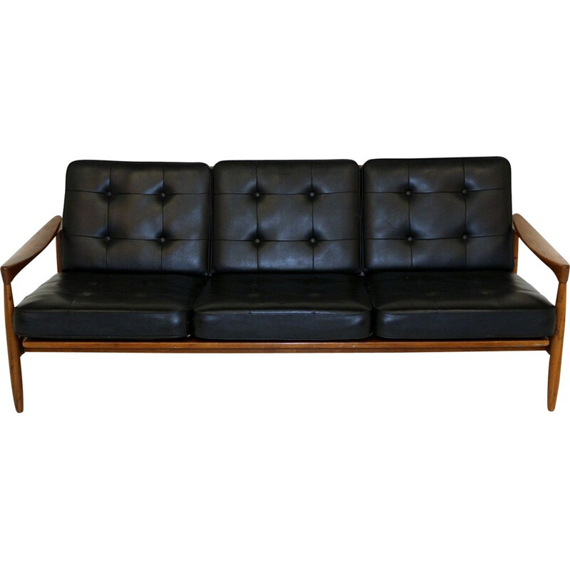 Vintage leather sofa 1960s