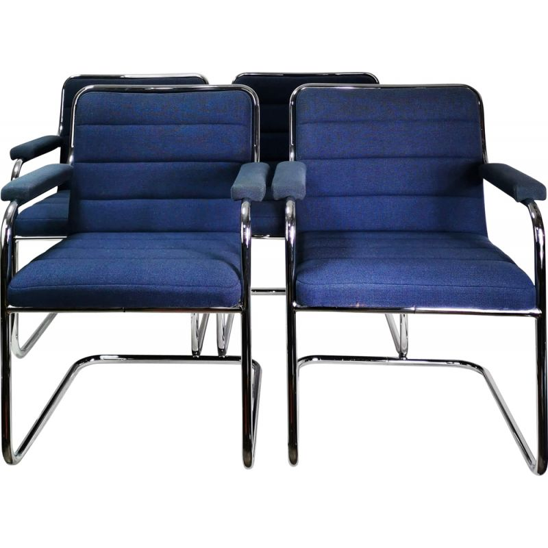 Set of 4 vintage Chairs Thonet Germany 1970s