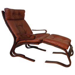 Leather chair and ottoman, Ingmar RELLING - 70
