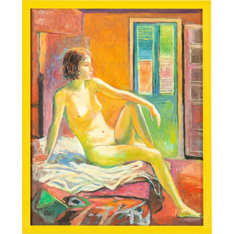 Vintage Expressionist nude painting