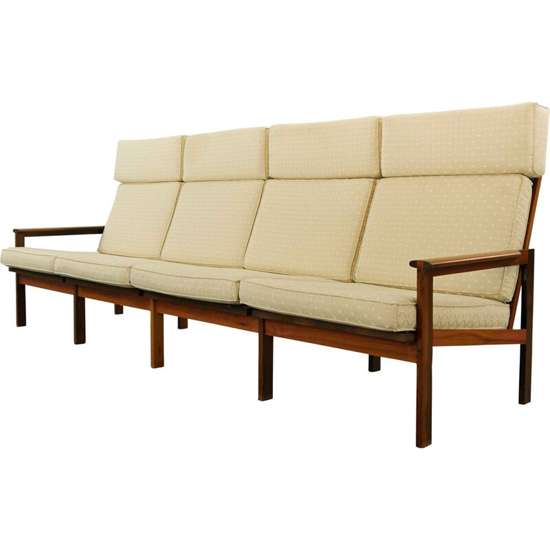 Vintage Capella 4-Seat Sofa by Illum Wikkelso for N. Eilersen Denmark