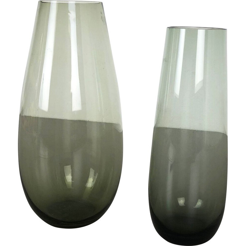 Pair of vintage Turmalin vases by Wilhelm Wagenfeld for the WMF, Germany 1960