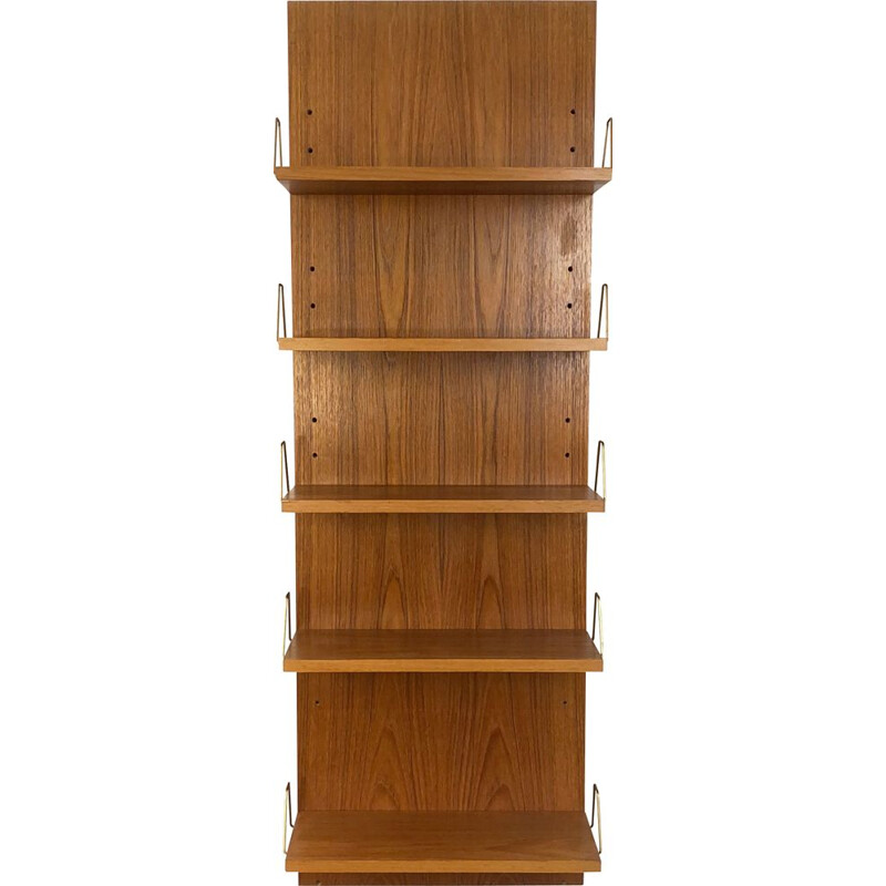 Mid-Century Teak Wall Shelf by Günter Renkel for Rego Mobile Germany 1960s