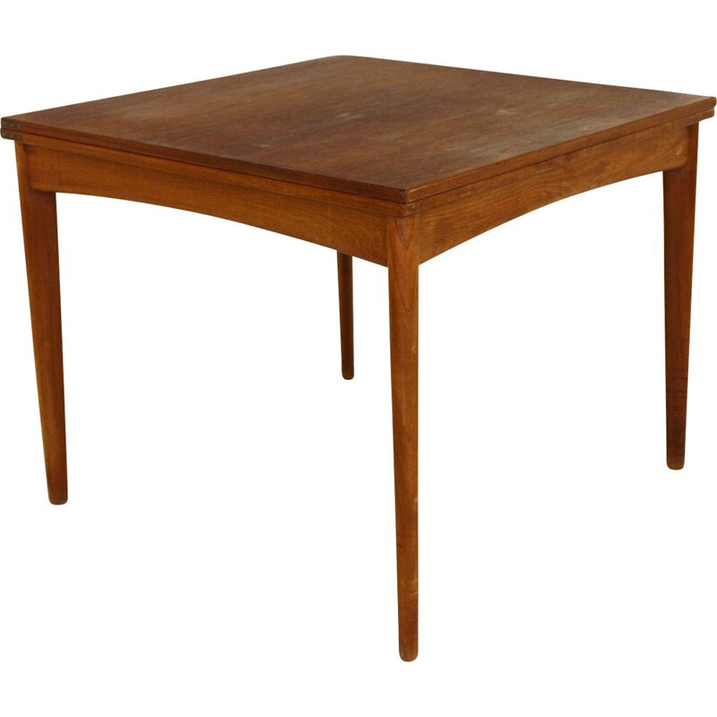 Vintage teak game table Denmark 1960s
