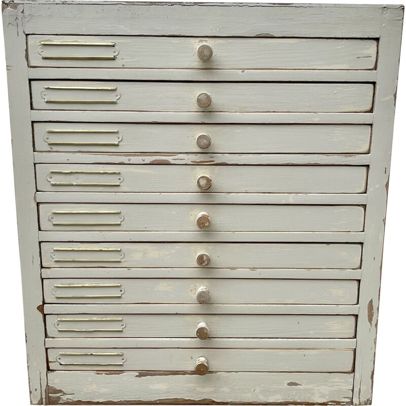 Vintage Dentist Cabinet Drawers