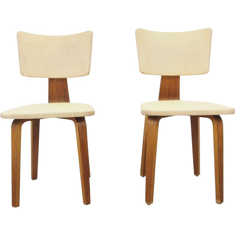 Pair of Mid century chairs by Cor Alons for Gouda De Boer