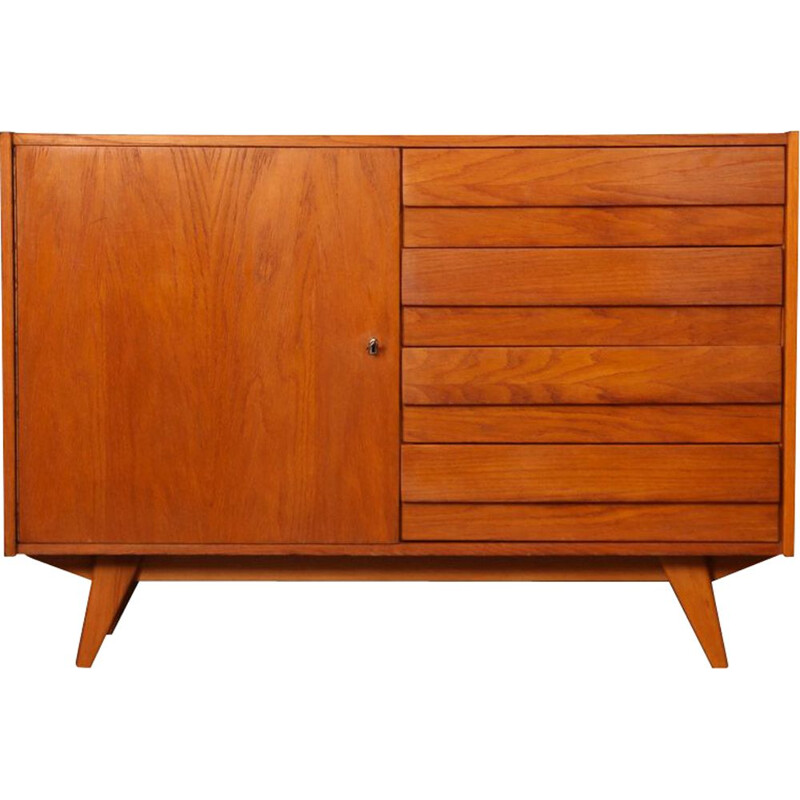 Vintage wooden chest of drawers by Jiri Jiroutek 1960s