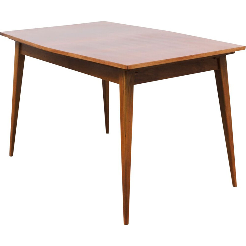 Vintage dining table in dark walnut 1950s