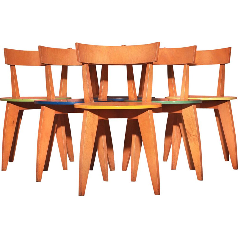 Set of 6 vintage Carugo Chairs By James Irvine For Cappellini 1993s