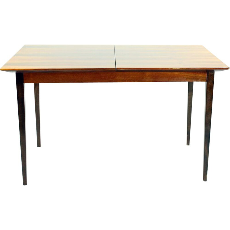 Large vintage Extendable Dining Table In Mahogany By Interier Praha Czechoslovakia 1960s