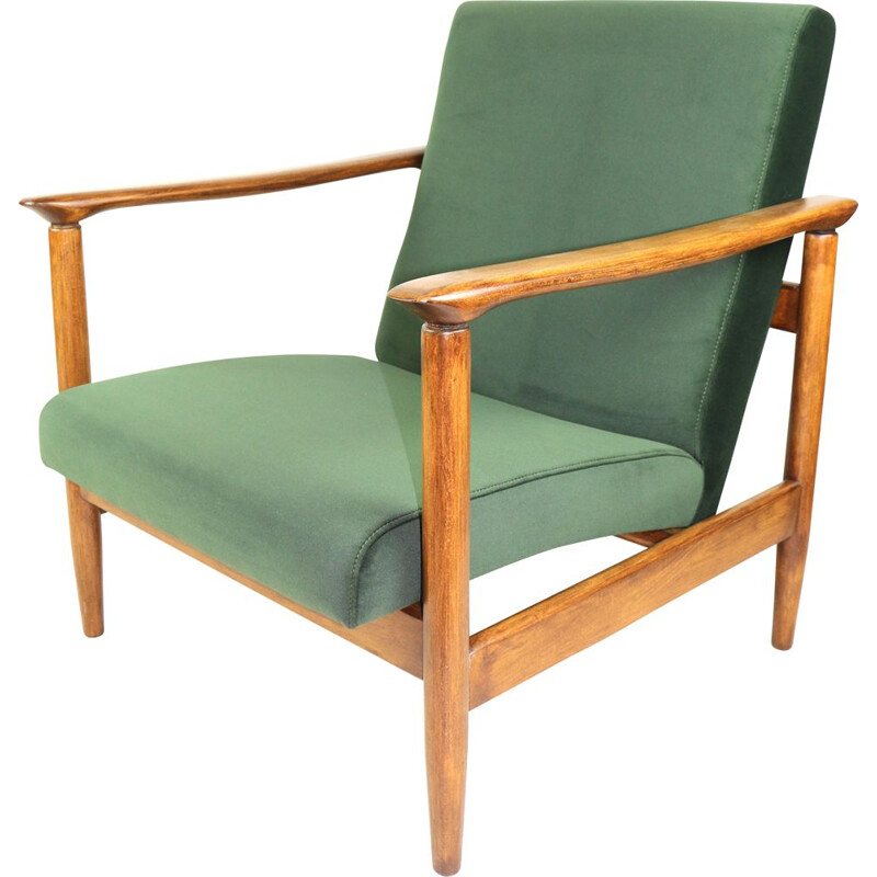 Vintage Green Olive Armchair by Edmund Homa 1970s