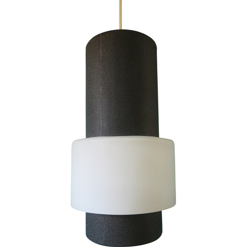 Philips pendant light in black metal, Louis KALFF - 1960s