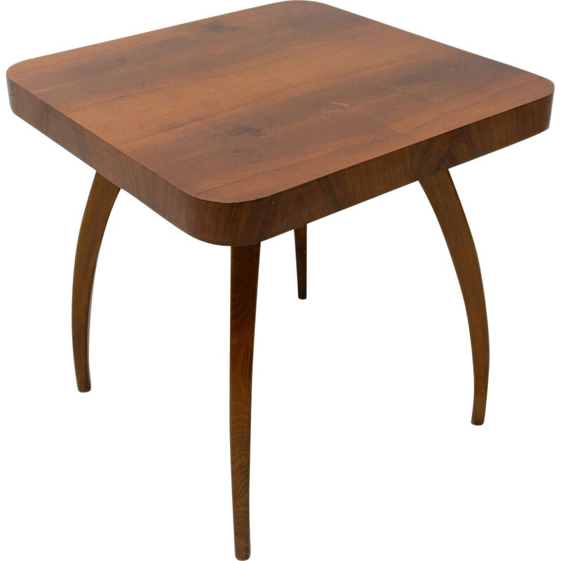Vintage Walnut Spider Table by Jindrich Halabala Czechoslovakia 1950s