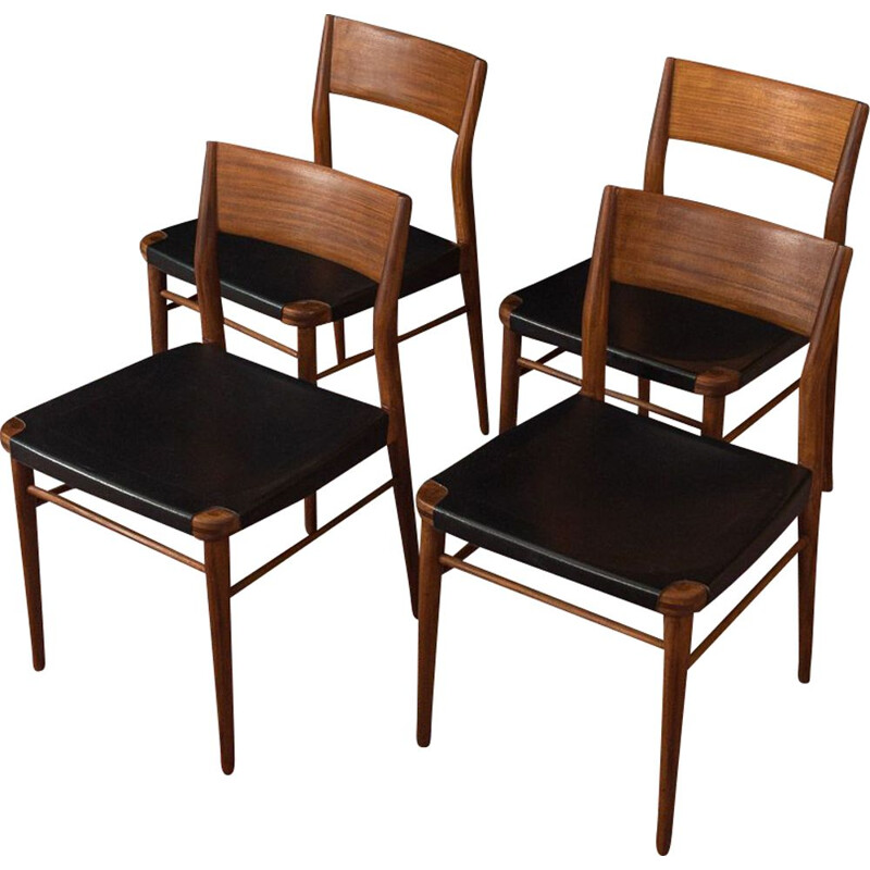 Set of 4 vintage dining chairs Wilkhahn 1950s