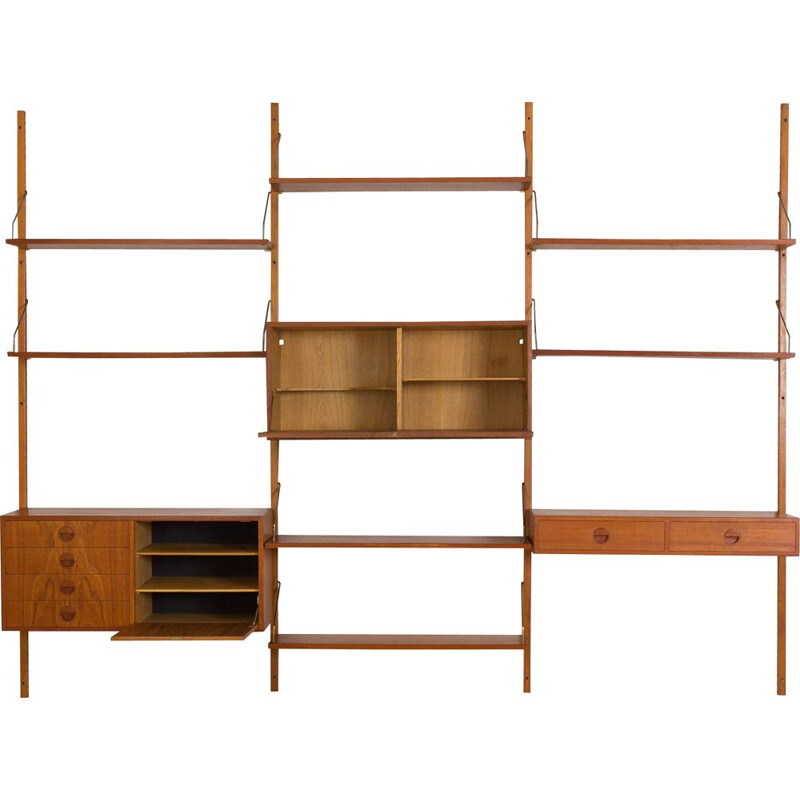 Vintage teak wall units by Hansen & Guldborg Danish 1960s