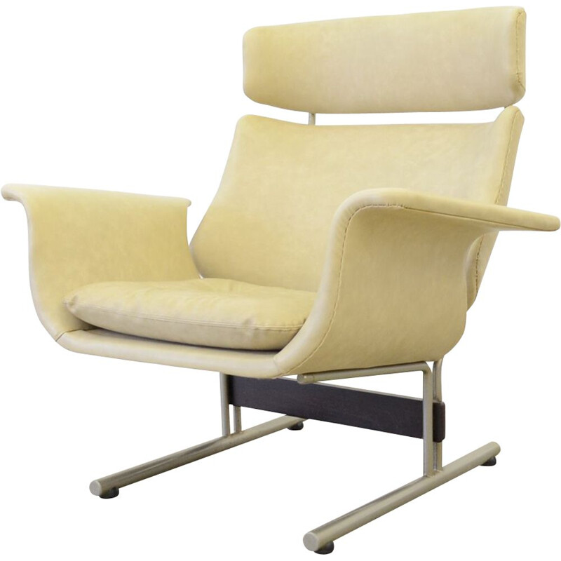 Midcentury lounge chair in skai Dutch 1950s