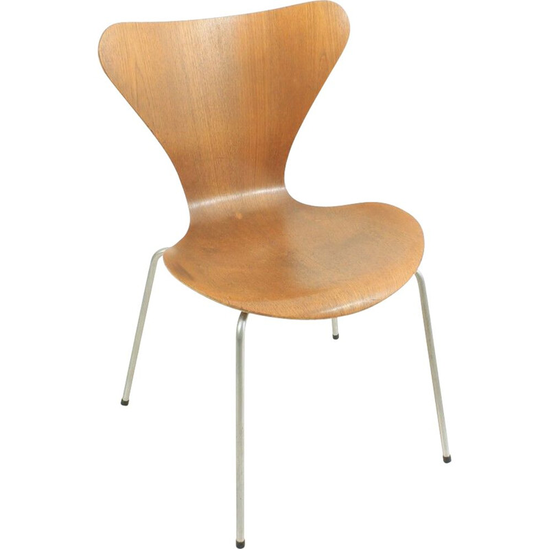 Vintage teak chair by Arne Jacobsen for Fritz Hansen 1960s