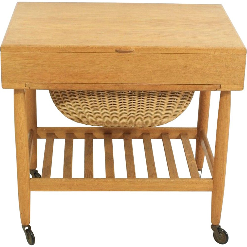 Mid-century sewing trolley by Ejvind Johansson for Vitré Danish 1960s