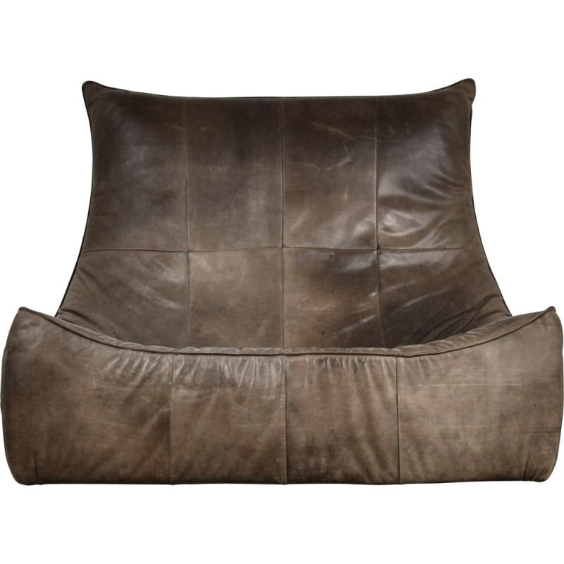 Vintage The Rock Leather Sofa by Gerard van den Berg for Montis 1970s