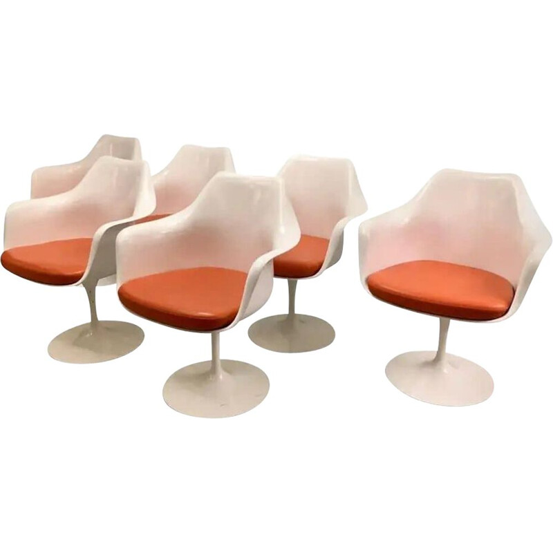 Set of 6 vintage Tulip armchairs by Eero Saarinen for Knoll