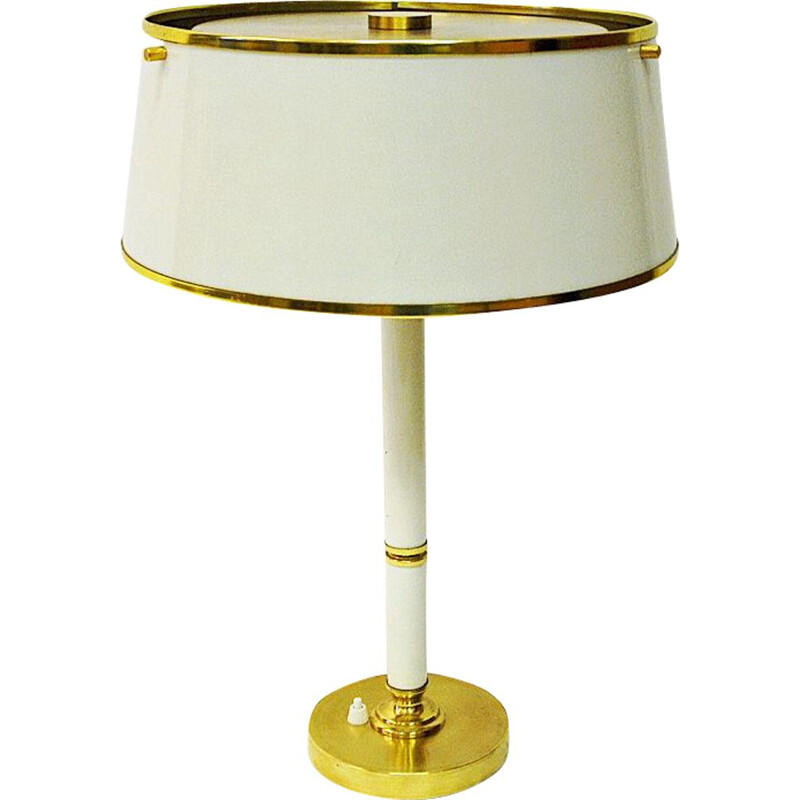 Vintage Brass and metal table lamp by Borèns Borås Sweden 1960s