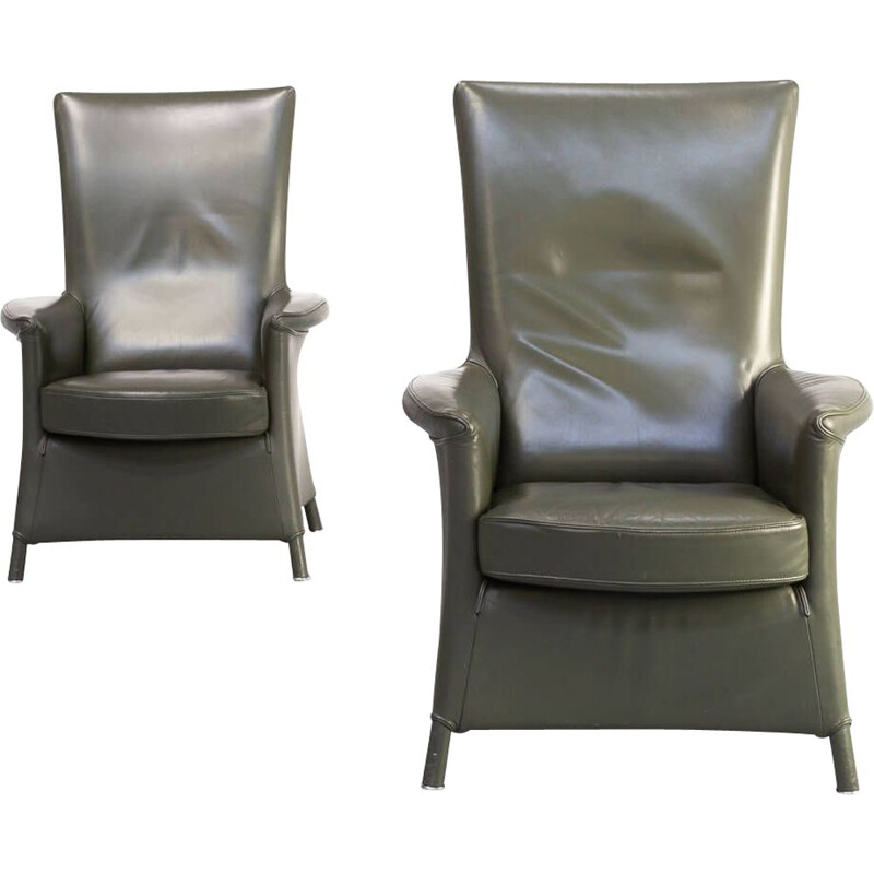 Pair of vintage Paolo Piva alta armchair for Wittmann 1990s
