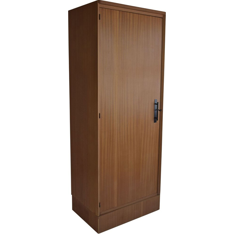 Vintage natural blond mahogany wardrobe Paris 1960s