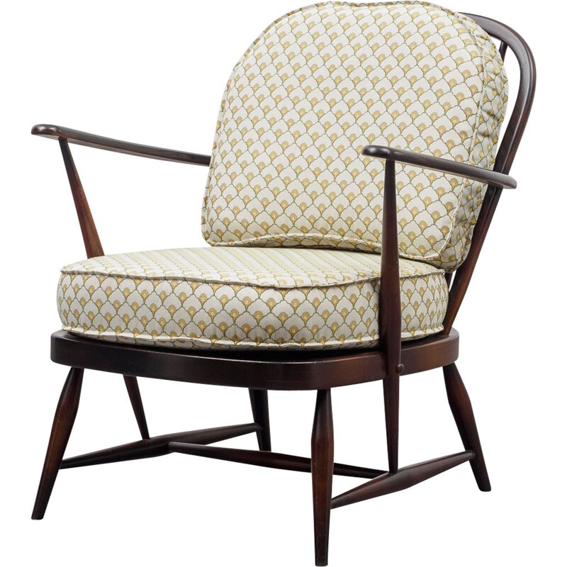 Vintage spindle back easy chair from Ercol 1950s
