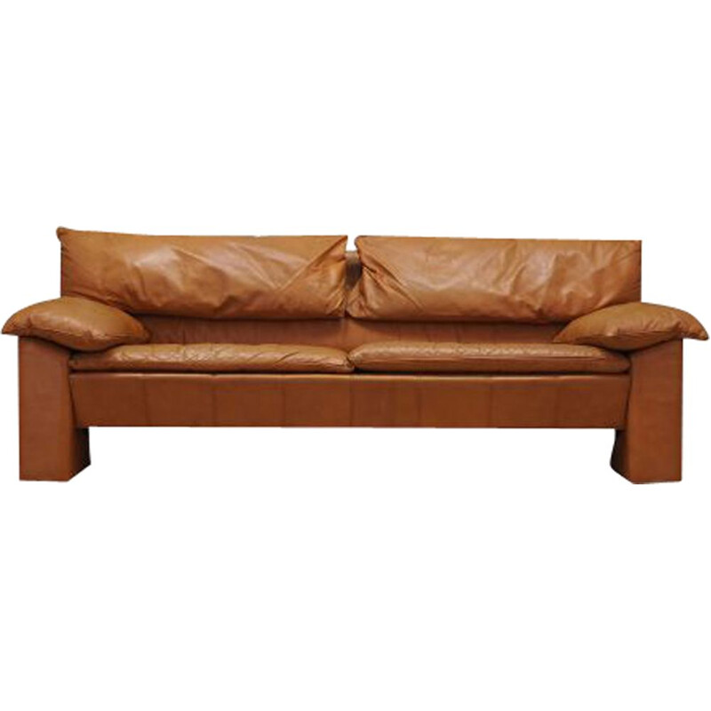 Vintage Leather sofa Denmark 1960s